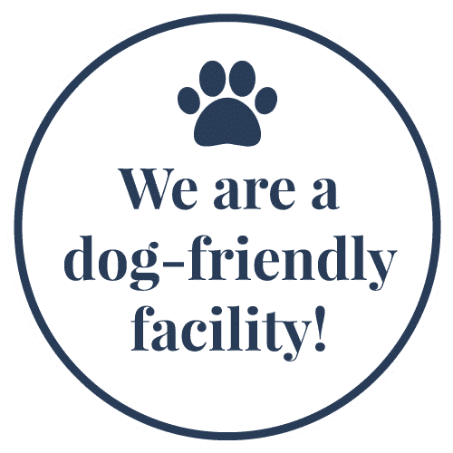 We are a dog-friendly facility!